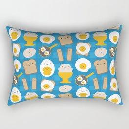 Kawaii Eggs For Breakfast Rectangular Pillow