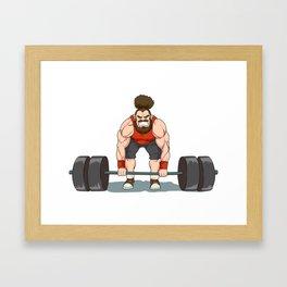 Weightlifting | Fitness Workout Framed Art Print