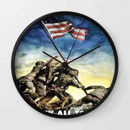 Now All Together - Vintage Military Poster Wall Clock