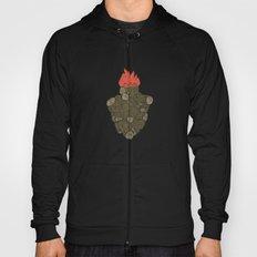 Endure Burning - Viktor Frankl Quote - wood heart Hoody