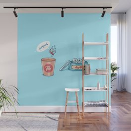 Kamikaze ( Concept Funny illustrations) Wall Mural
