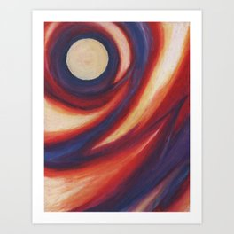 Crepuscular Vortex Art Print