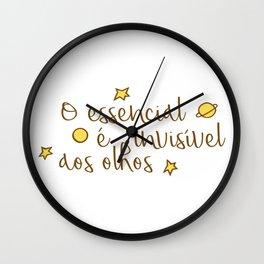 O essencial é invisível aos olhos Wall Clock