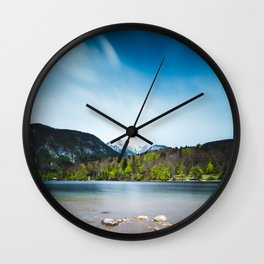 Lake Bohinj with Alps in Slovenia Wall Clock