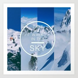 Walk in the Sky Art Print
