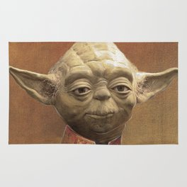 General Yoda Portrait Painting On Canvas | Fan Art Rug