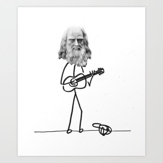 the struggling artist Art Print