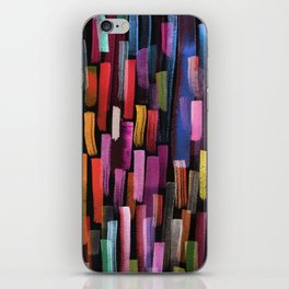 colorful brushstrokes pattern iPhone Skin