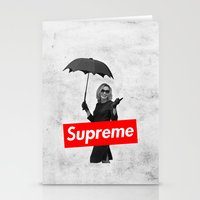 supreme Stationery Cards featuring The Supreme by Dandy