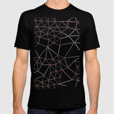 Seg with Red Spots Black MEDIUM Mens Fitted Tee