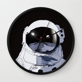 Astronaut Golf Course on the Moon Wall Clock