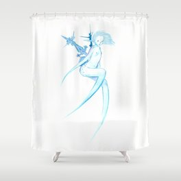 Winter fairy Shower Curtain