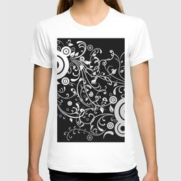 Abstract white and grey background T-shirt