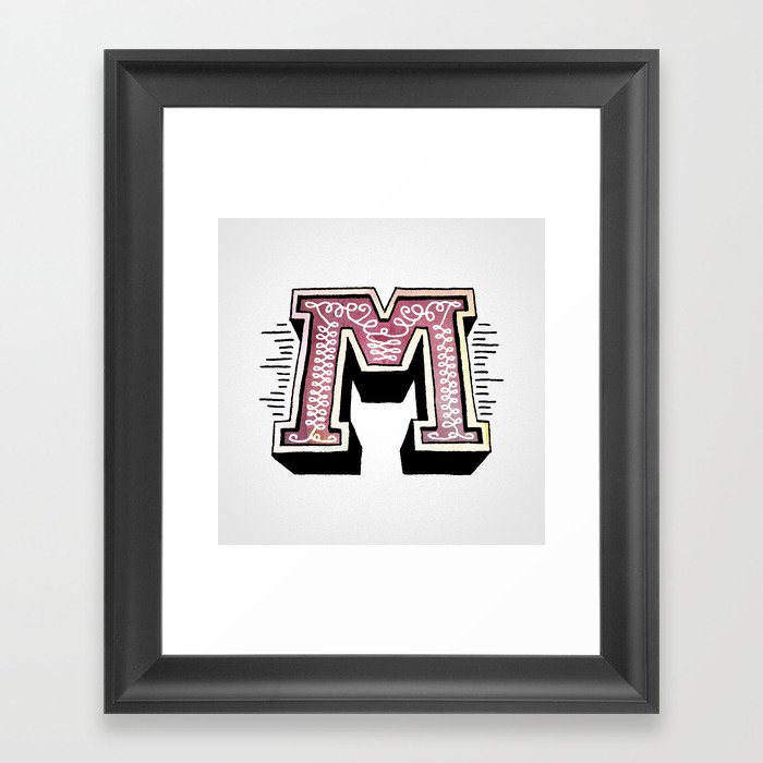 The Letter M Framed Art Print By Chrisrushing