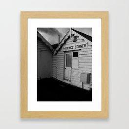 Jim Young's Corner Framed Art Print