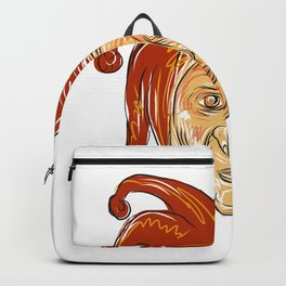 Court Jester Head Drawing Backpack