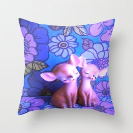 Mod Deer Throw Pillow