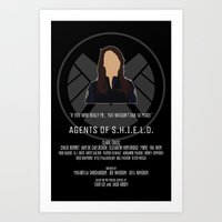 agents of shield Art Prints featuring Agents of S.H.I.E.L.D. - May by MacGuffin Designs