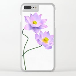 Thamarai, Yellow Flower, Floral Pattern, Yellow Blossom Clear iPhone Case