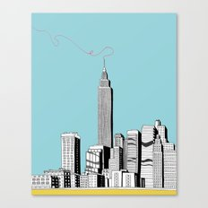 A Scribble in the Sky Canvas Print