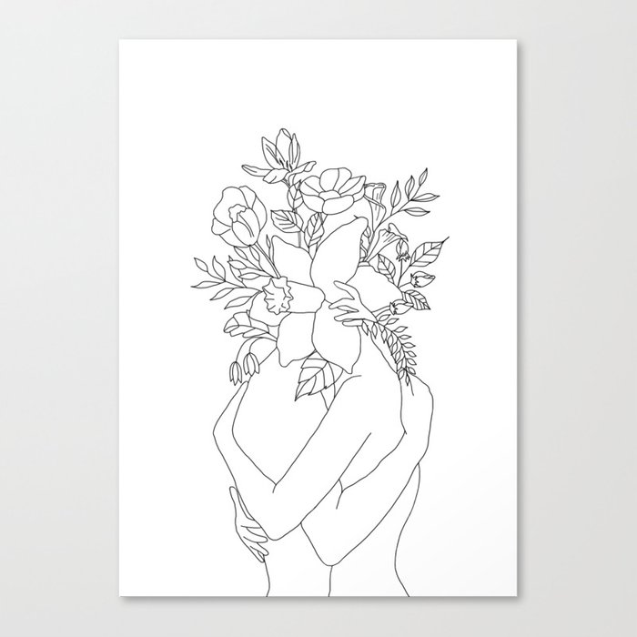 Blossom Hug Leinwanddruck