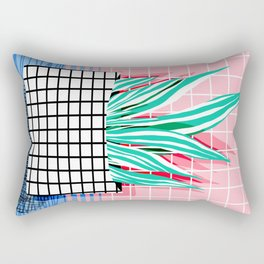 Glam - pop art memphis neon house plants throwback retro 80s style cool brooklyn style minimalism Rectangular Pillow