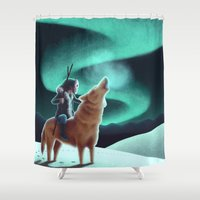 howl Shower Curtains featuring Howl by slewisillustration