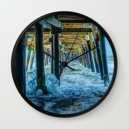 Under San Clemente Pier II Wall Clock