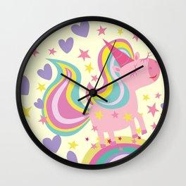 The magical rainbow unicorn Wall Clock