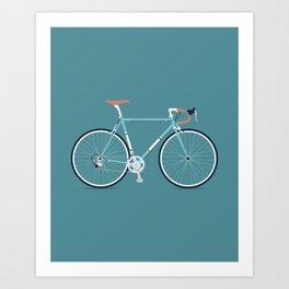 My Bike Blue Art Print