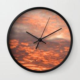 October Sky - Embers Wall Clock