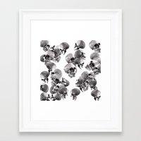 skulls Framed Art Prints featuring Skulls by Rik Reimert