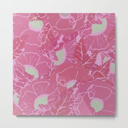 Trop-pink Metal Print