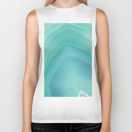 Geode Crystal Turquoise Biker Tank