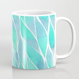 Blue watercolor feathers Coffee Mug