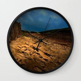 Bantham Beach Exit Wall Clock