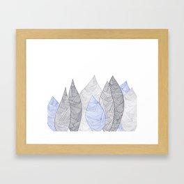 Pen & Ink Leaves Framed Art Print