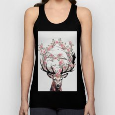 Deer and Flowers Unisex Tank Top