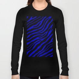Ripped SpaceTime Stripes - Blue Long Sleeve T-shirt