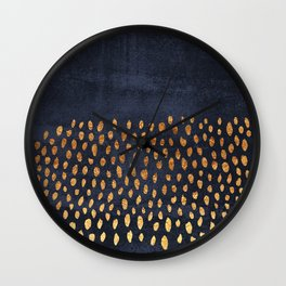 Pattern Play / Navy & Gold Wall Clock