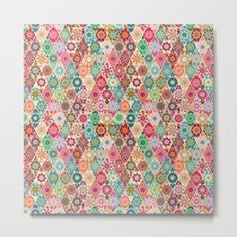 Diamond quilt Metal Print