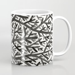 Black Fan Coral Coffee Mug