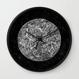 Black Constellation Wall Clock