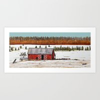 john snow Art Prints featuring First Snow by John Wisker