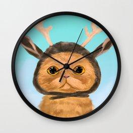 Reindeer Cat Wall Clock