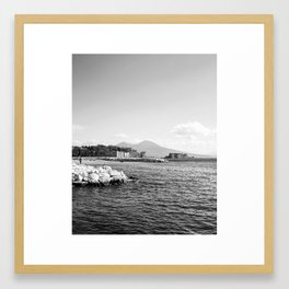 Naples and the Vesuvius Framed Art Print