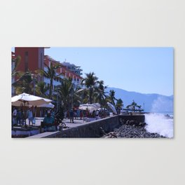 Puerto Vallarta Malecon Canvas Print
