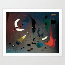 Miró's Ghost Wakes Up from a Bad Reality Art Print