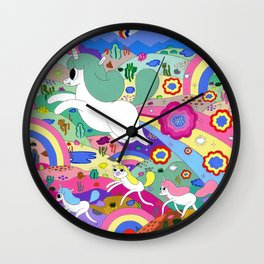 Gary the Farting Unicorn Wall Clock