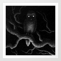 Drawlloween 2016: Owl Art Print